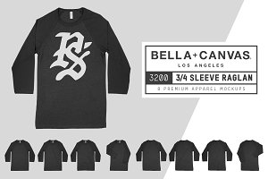Bella Canvas 3200 3/4 Baseball Tee