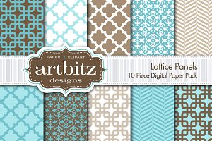 Lattice Panels Digital Paper