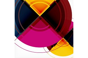 Creative circles geometric abstract