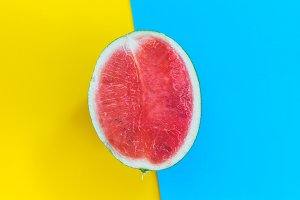 Watermelon on colourful background