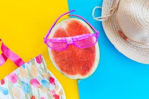 Watermelon with summer Accessories