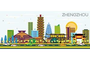 Zhengzhou China City Skyline