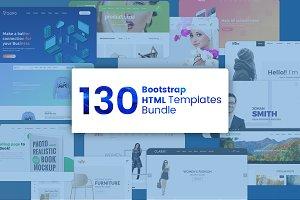 130 Pro Bootstrap Templates Bundle