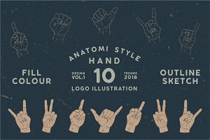 10 Illustration Hand Design