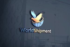 World Shipment Logo Template