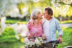 Beautiful senior couple with