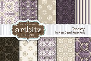 Tapestry Damask Digital Paper