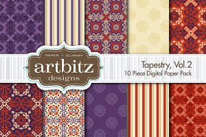 Tapestry, V2 Damask Digital Paper