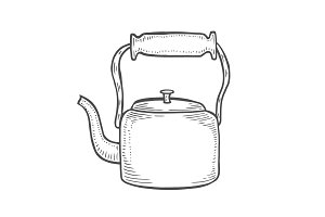 Vintage metallic kettle