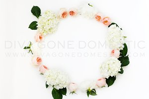 Styled Stock Photo - Floral Wreath