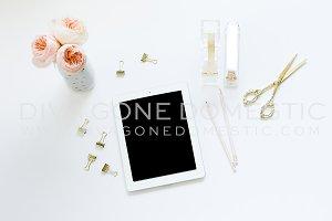 Soft & Pretty iPad Mock Up Desk