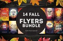 14 Fall Flyers Bundle