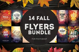 14 Fall Flyers Bundle
