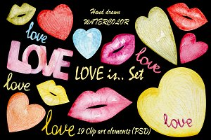LOVE IS.. Clip Art Set