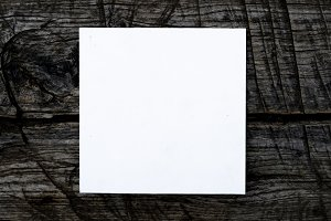 f overhead top view of white square