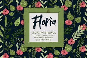 Floria, vector autumn pack