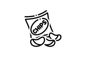 Potato chips icon