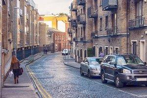 small street of Dublin