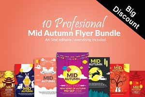 10 Mid Autumn Flyers Bundle Vol:01