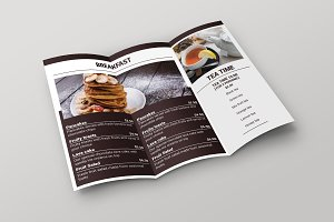Brunch Cafe Trifold Menu Template