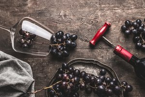 Red wine still life