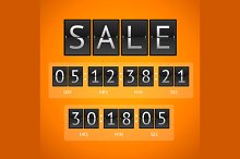 Vector countdown timer sale
