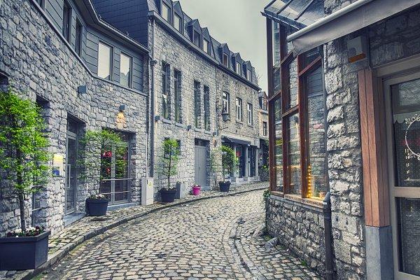 Architecture Stock Photos - old Belgium town Durbuy
