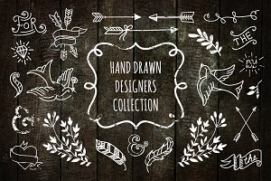 Hand drawn designers collection