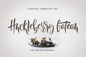 NEW! Huckleberry Gateau Font
