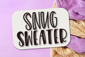 Snug Sweater - Font Duo
