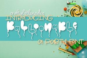Balloonable - A Party Balloon Font