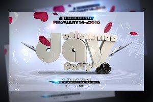 Valentines Bash Flyer Template