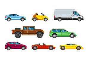 Vehicle collection. Urban