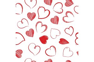 love hearts sealess pattern