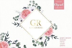 Floral Design Set - Garden Rose