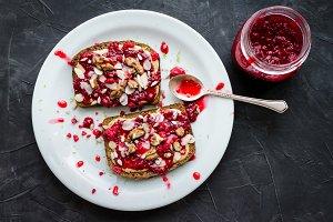 Healthy sandwich for breakfast