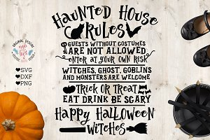 Haunted House Rules Halloween Svg