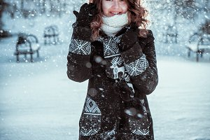 Winter girl portrait