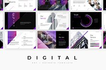 Digital - PowerPoint template + KEY