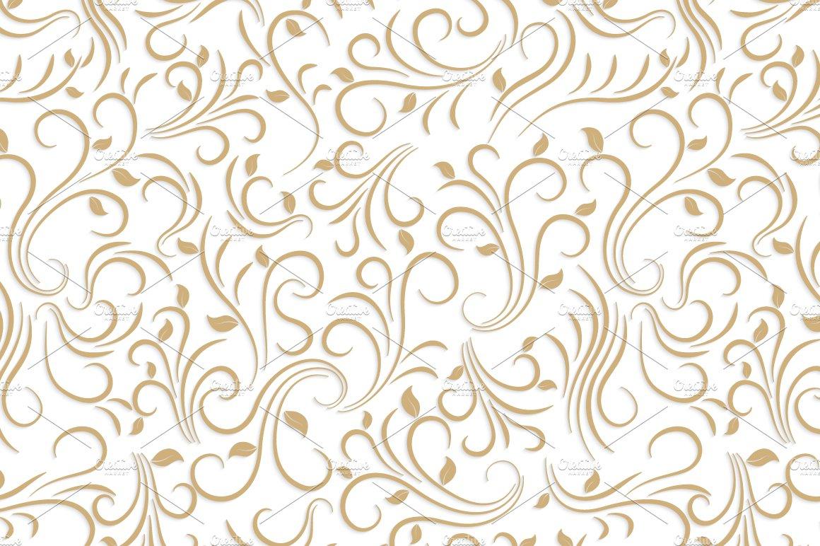 Gold Floral Pattern Textures Creative Market