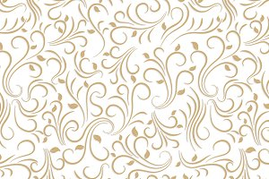Gold floral pattern