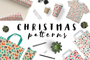 Vector Christmas Pattern Set (Sale)