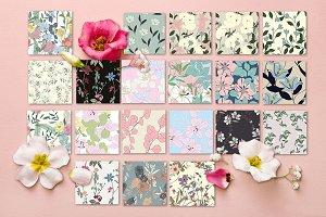 20JPG/EPS Tropical floral pattern
