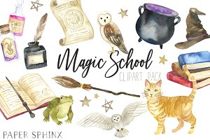 Magic School Clipart Pack