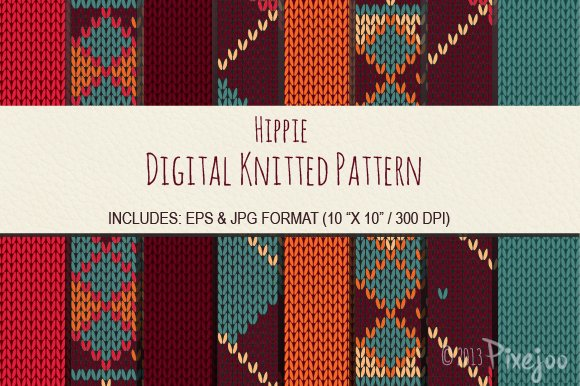 8 Seamless Knitted Sweater Pattern Graphic Patterns Creative Market