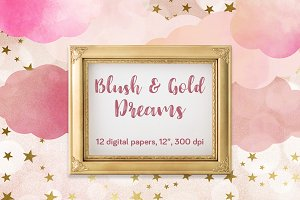 Blush & Gold Dreams Papers