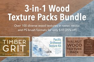 3-in-1 Wood Texture Packs Bundle