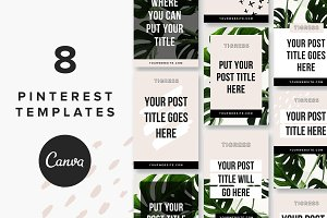 Pinterest Templates: Tigress