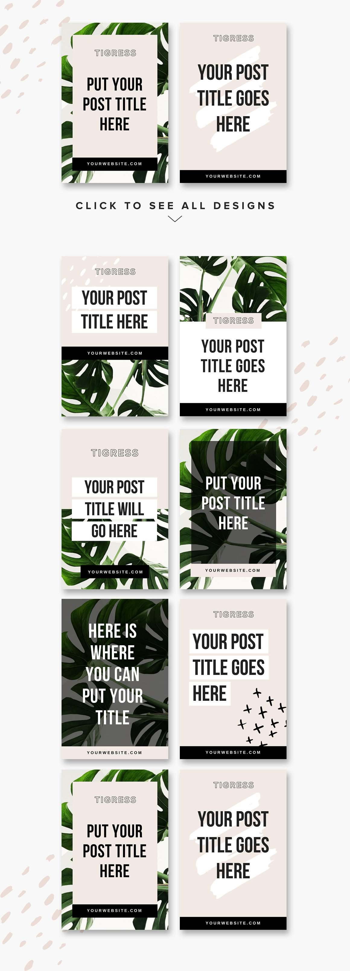 Pinterest Templates: Tigress