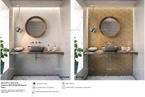 Wall Mockup Bathroom Scene SM37